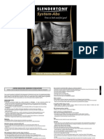 Slender Tone System Abs Instructions