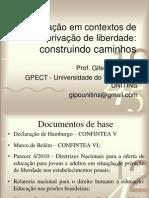 Educação em contextos de privação de liberdade PENSAR 2011