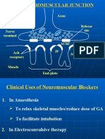 Lecture 13 - Clinical Uses of Neuromuscular Blockers