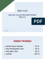 Bahasa Dalam Kesusasteraan Melayu