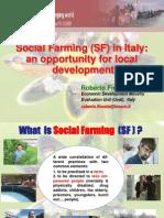 Social Farming (SF) in Italy