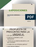 EXPOSICIONES EDUCACION COMPARADA