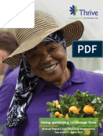 Thrive Horticultural Therapy Organization's Annual Report - March 2010