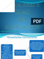 Dieta Real e Ideal del Adolescente