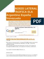 ESCLEROSIS LATERAL AMIOTROFICA ELA Argentina España Venezuela