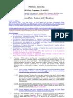 2012 Rule Proposals - 23 Jul 2011 Final