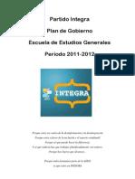 Plan De Gobierno Integra 2011