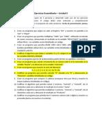 Ejercicios Ensamblador - Unidad II