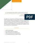 García, Juan Antonio, La Interpretación Constitucional