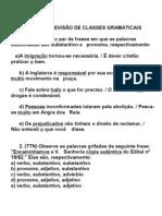 EXERCÍCIOS DE REVISÃO DE CLASSES GRAMATICAIS - 3º ANO