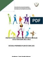 Proyecto Del Centro de Iniciacion Deportiva