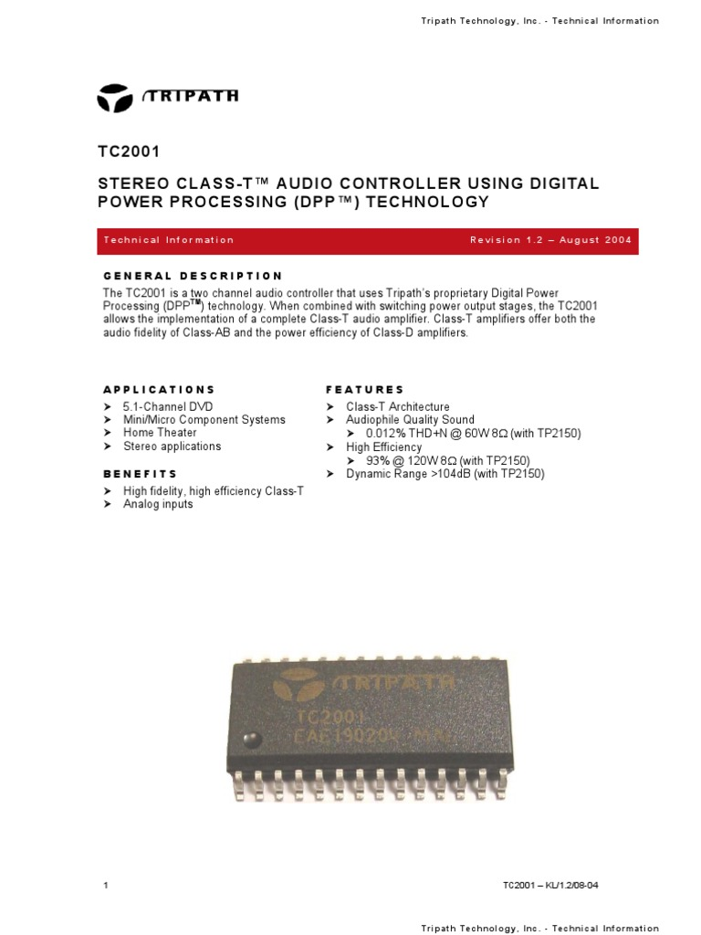 Tc2001 Amplifier Resistor Audio Amplifiers From Class A To T