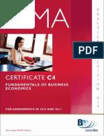Cima Certificate Paper c4 Fundamentals of Business Economics Practice Revision