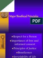 Major Bio Ethical Principles