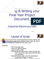 Planning and Writing Your Project1