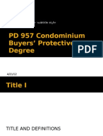 PD 957 Condominium Buyers' Protective Degree