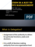 Delegation is a Key to Effective Management