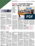 Article sur Tarek dans le Télégramme de Brest