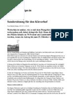 111005_kölner stadtanzeiger - Sondersitzung für den Kleverhof