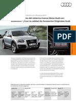 Accesiorios originales Audi - Nuevo manos libres Bluetooth