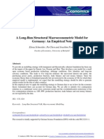 A Long-Run Structural Macro Eco No Metric Model for Germany an Empirical Note (1a)