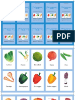 Flash Cards Vegetables and Mushrooms