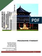 Itinerary - China