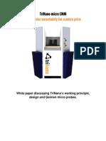 TriNano Ultra Precision CMM [White Paper]