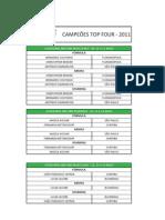 Campeões Top Four 2BD 3BD 2011