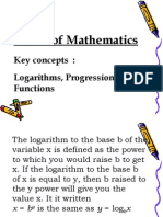 QM- Session #05- Logarithm, Progressions , Functions