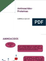 Aminoacidos- Proteinas GABRIELA