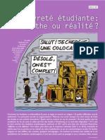 Savoirs12 octobre 2011 - dossier pauvreté étudiante - AFGES