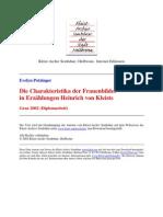 Potzinger,EvelynCharakteristikaDerFrauenbilderInErzaehlungenHeinrichVonKleists