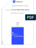 A Survey of TCP Over Mobile AdHoc Networks