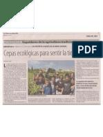 Cepas ecológicas para sentir la tierra, José María Luque, La Crónica de Montilla