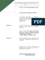 lei nº 2279 - 1999 -declaração de utilidade pública