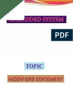 Modifiers Statement