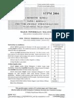 STPM Chemistry 2004 - Paper 2