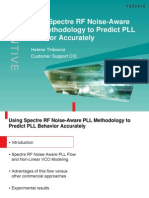 Using Spectre RF Noise-Aware PLL Methodology to Predict PLL Behavior Accurately