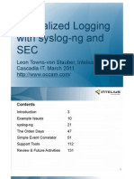 Centralized Logging 2011