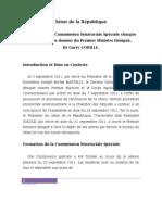 Rapport  de la Commission Sénatoriale Spéciale chargée d'examiner le dossier du PMD, Dr. Garry Conille
