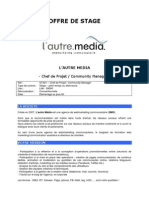 LautreMedia - Offre Stage - Chef de Projet Community Manager
