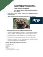 CUESTIONARIO SOBRE INNOVACIÓN TECNOLÓGICA PARA LA PRODUCCIÓN DE PASTA PAPELERA