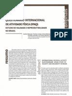 Matsudo et al - Avaliação Física - 2001
