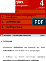 cap-4 Tautologia-Contradição