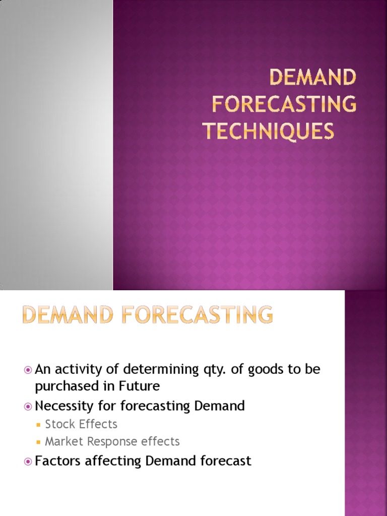 factors governing demand forecasting