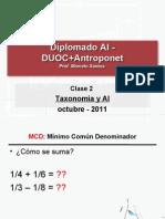 Taxonomia - Diplomado AI DUOC - Clase 02