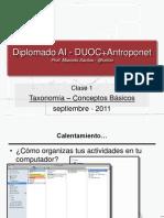 Taxonomia DUOC - Conceptos Basicos - Clase 01