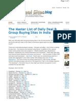 Www.indiadealsites.com 424 Master List of Daily Deal Gro