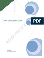 OOPS Sample Programs
